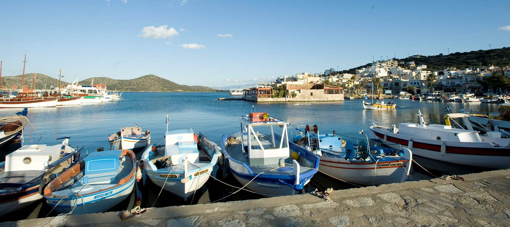 Elounda harbor