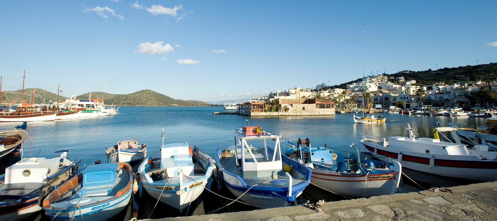 Elounda and its piqteresque harbor