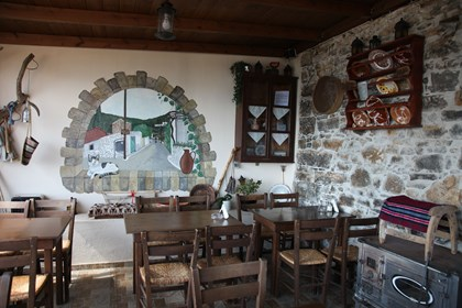 Little raki tavern in Mavrikiano (adjoining village)