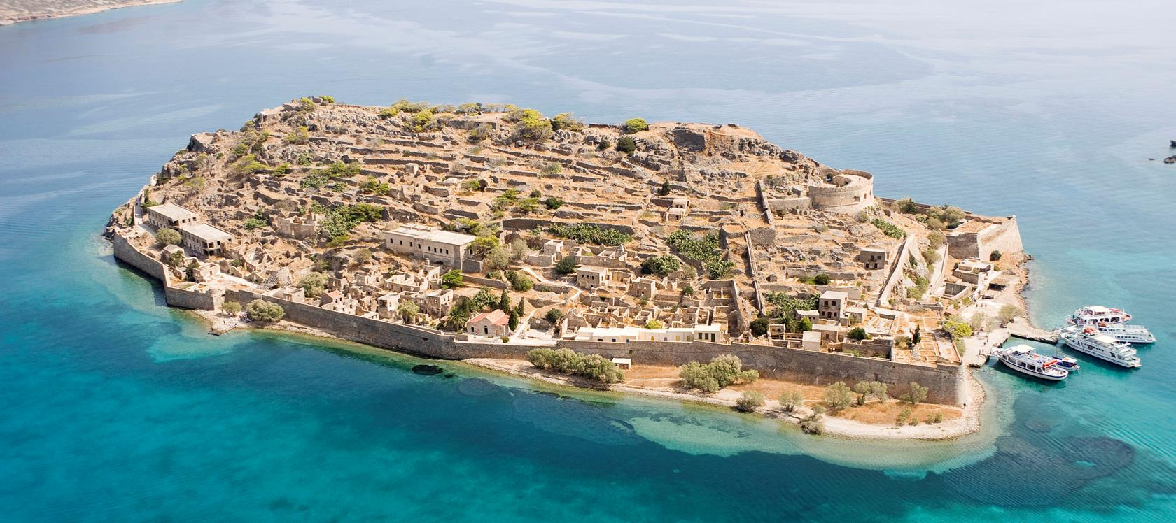 Aerial View of Spinalonga
