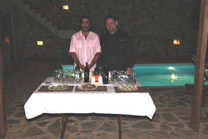 "Yours truly, N. Lygeros and our Chef Paul ""Delicious"" Delios!"